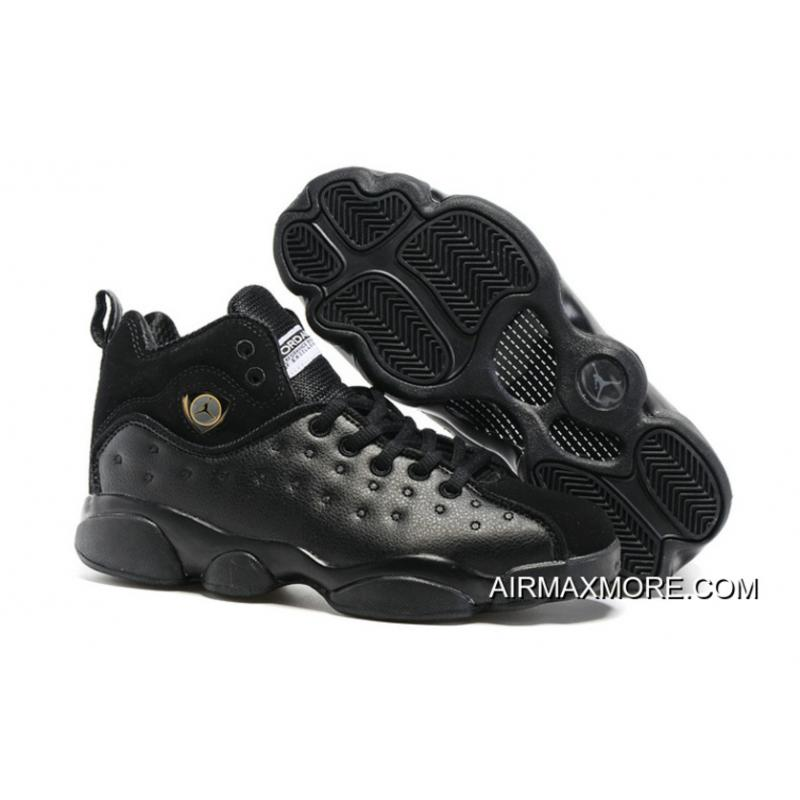 "d038b7354527c9 Women New Jordan Jumpman Team 2 GS ""Raging Bull"" All-Black Discount ..."
