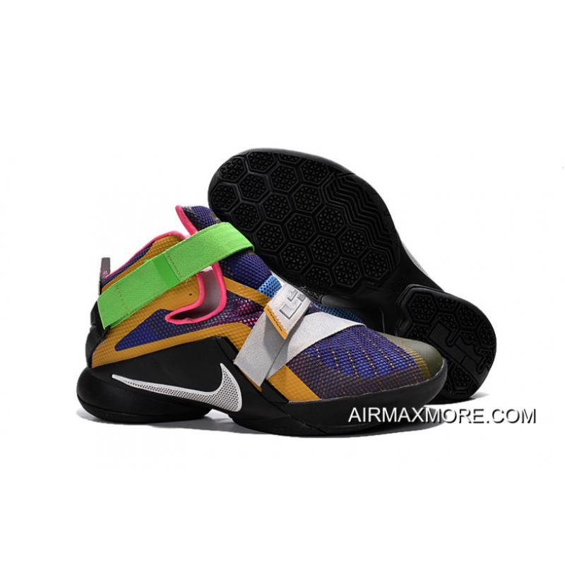 "outlet store c66db a8843 Nike LeBron Soldier 9 ""What The LeBron"" Multi Color/Black-White Basketball  Shoe Super Deals"