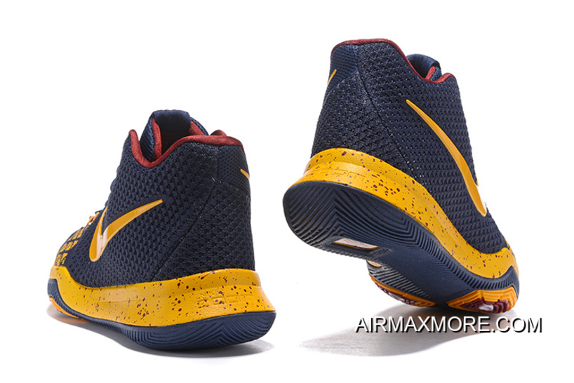 the latest 331bd 69374 Nike Kyrie 3 Navy Blue Yellow Discount