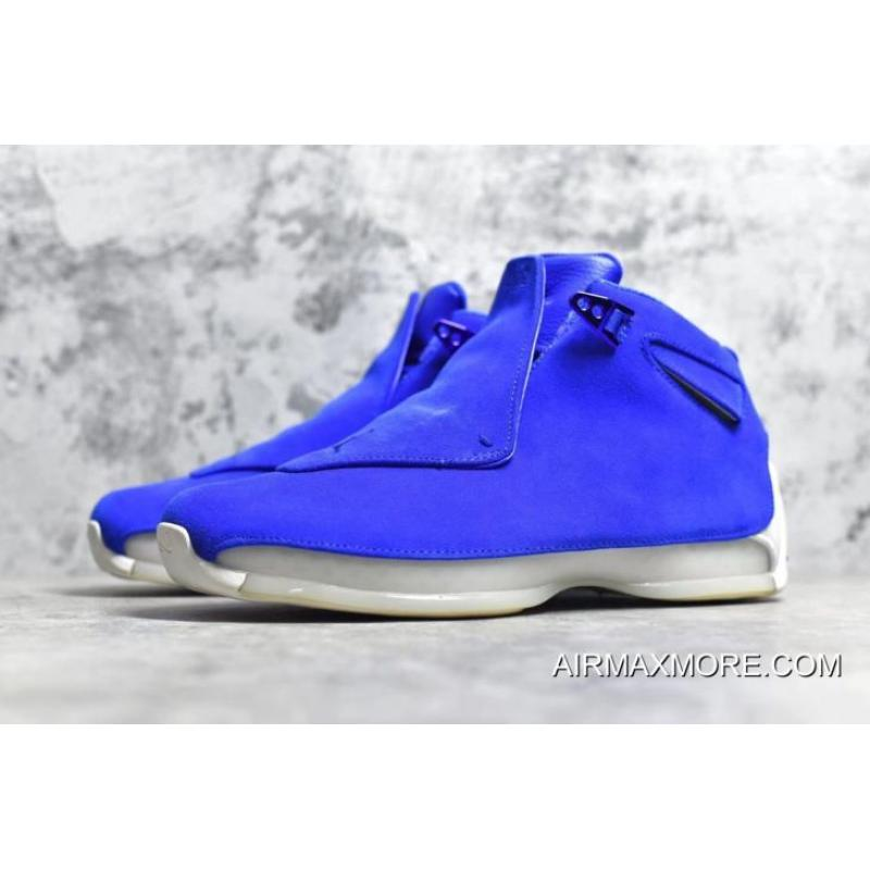 premium selection f7a1c a1d32 ... cheap air jordan 18 blue suede racer blue racer blue sail authentic  7663b 091c8
