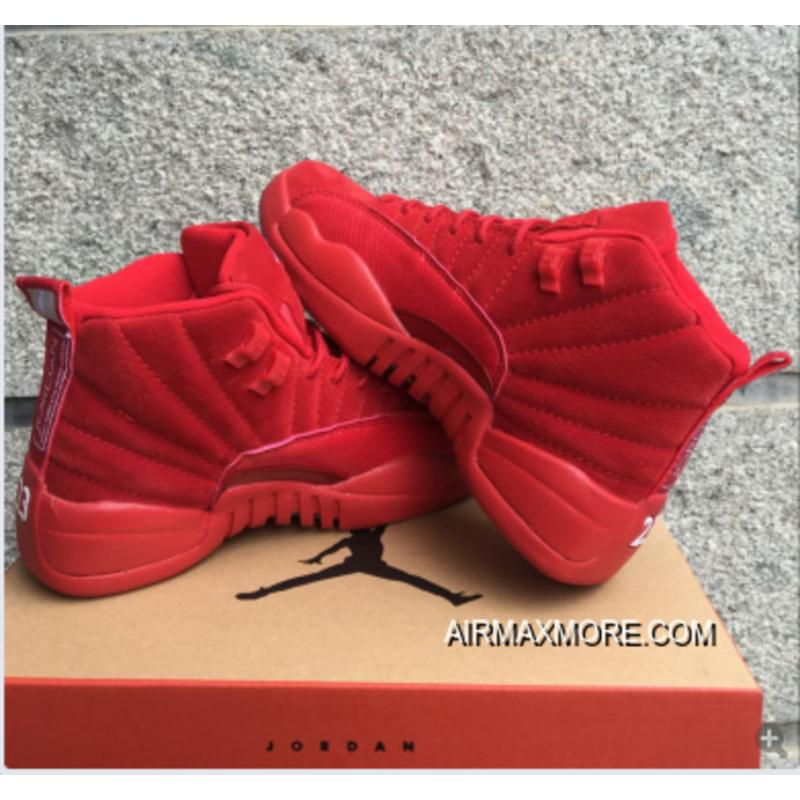"""new arrival 95075 f5596 Women Air Jordan 12 GS """"Red Suede"""" New Year Deals"""