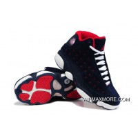uk availability 761ee 304e3 Women New Air Jordan 13 GS Suede Dark Blue Red-White New Style