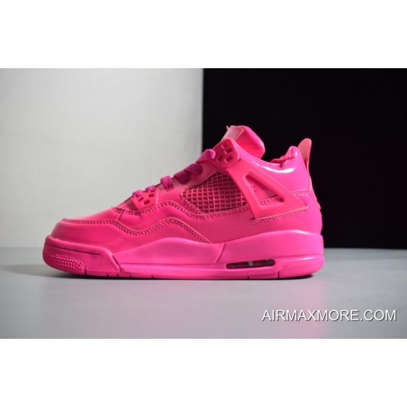 "ad68382d3d52c7 ... Women New Release Air Jordan 4 GS 11Lab4 ""Pink Patent"" Leather ..."