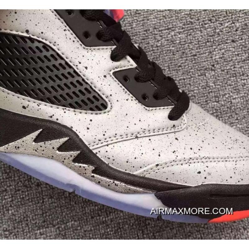 "pretty nice e4c28 a4a38 ... Best Air Jordan 5 Low GS ""Neymar"" Reflect Silver Infrared 23-Black"