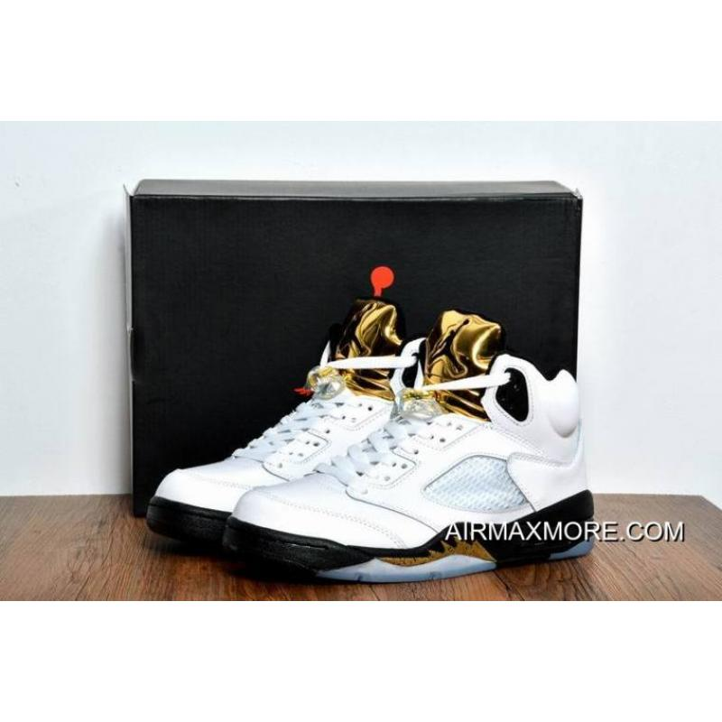 0bdf90e55010 ... closeout women men big discount air jordan 5 olympic gold medal white  black 5ed8c 07d71