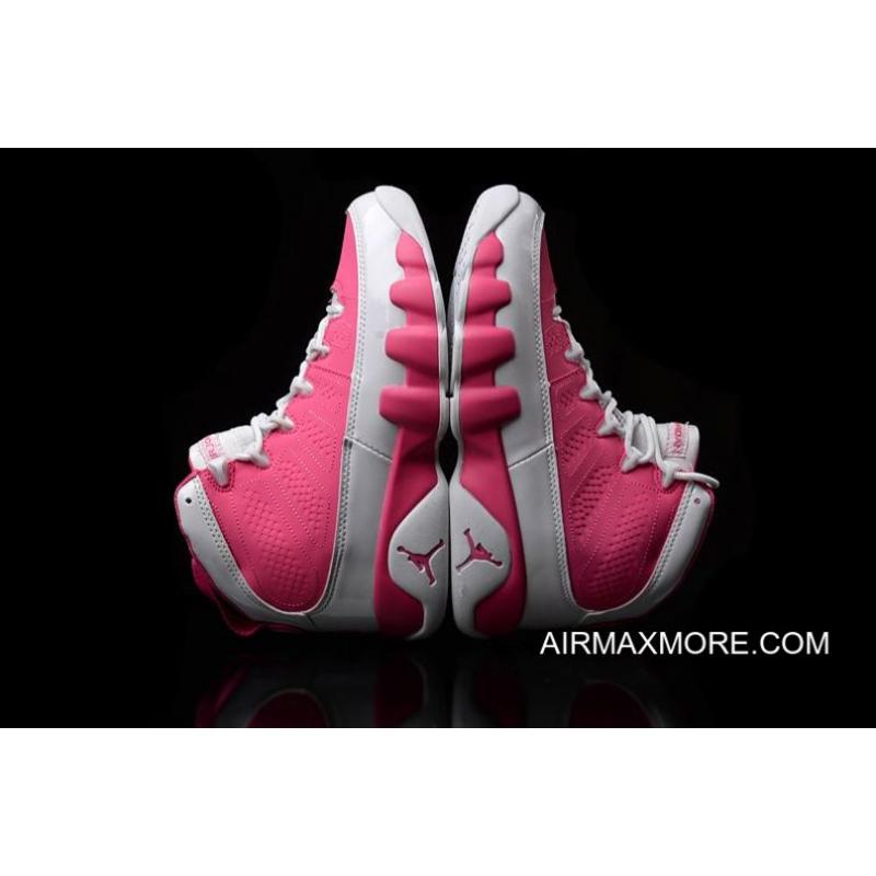 the latest db979 eab77 ... Women New Year Deals New Air Jordan 9 GS Pink White Shoes ...