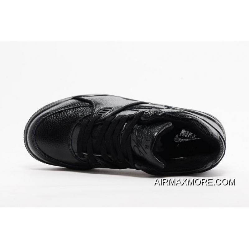 buy online 86f32 63936 ... cheapest nike air flight 89 all black leather basketball shoes new  style 60b0d 9216c