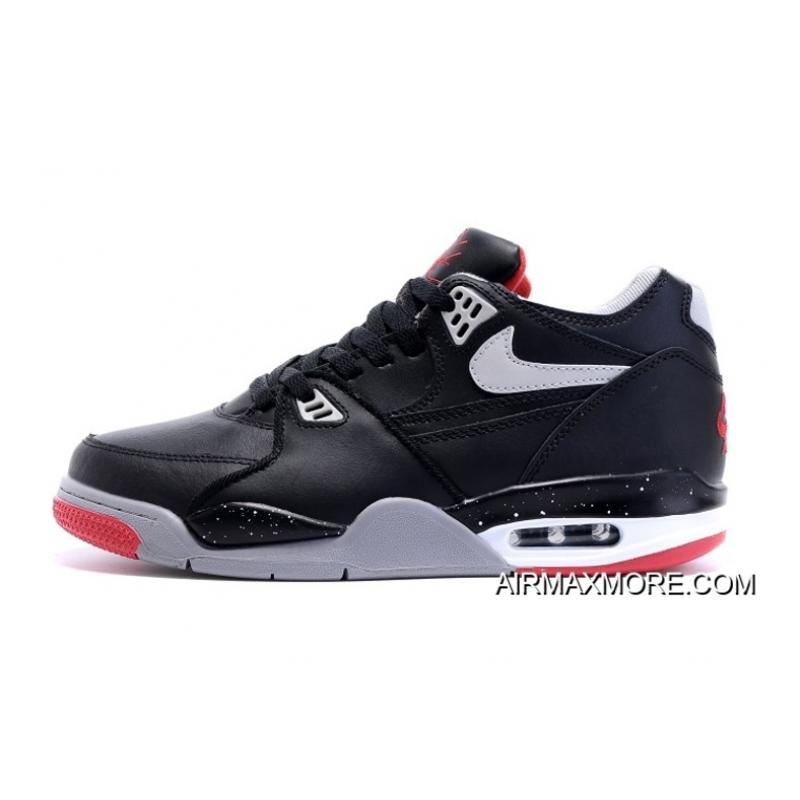 """prix le plus bas 6afe5 c0ab2 Nike Air Flight '89 """"Bred"""" Black/Cement Grey-Fire Red-White Shoes Discount"""