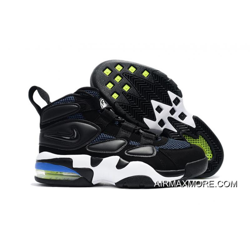 reputable site 89edc f8ef0 Nike Air Max Uptempo 2 Black White Blue Top Deals ...