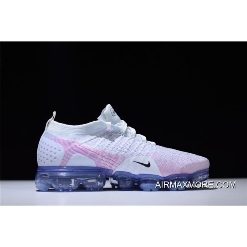 750cff44fd61 Nike WMNS Air VaporMax Flyknit 2.0 White Pink Hydrogen Blue For Sale ...
