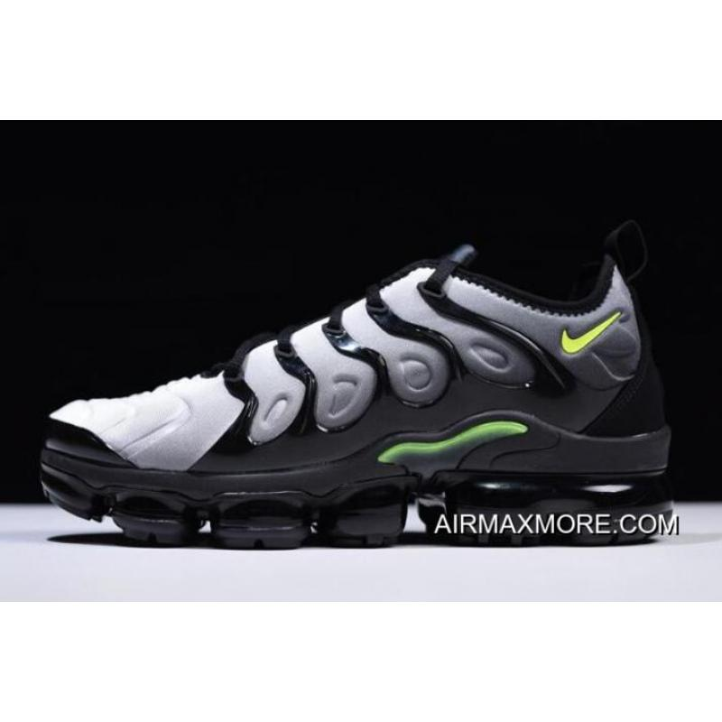 new arrivals 3c96b 4934a Nike Air Vapormax Plus 2018 Black/Volt-White For Sale