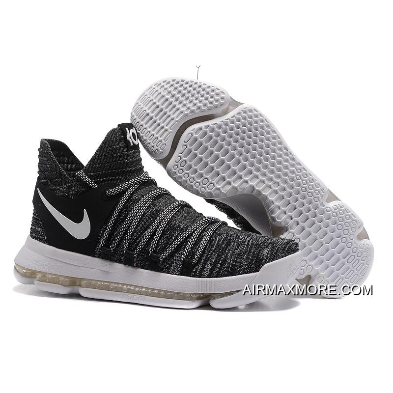 "newest 9d024 10489 Nike KD 10 ""Oreo"" Black/White Where To Buy"