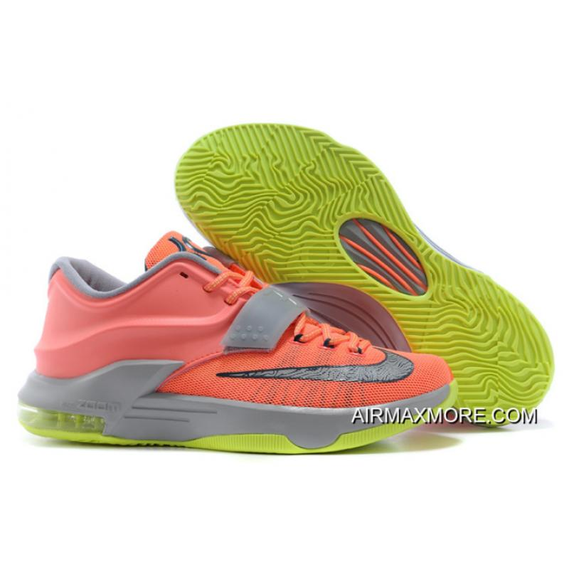 """best loved 66855 56455 Nike Kevin Durant KD 7 VII """"35000 Degrees"""" Bright Mango Space Blue  ..."""