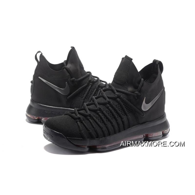 24c71ab8cab7 ... purchase new release nike zoom kd 9 elite all black basketball shoes  3c109 5e26a