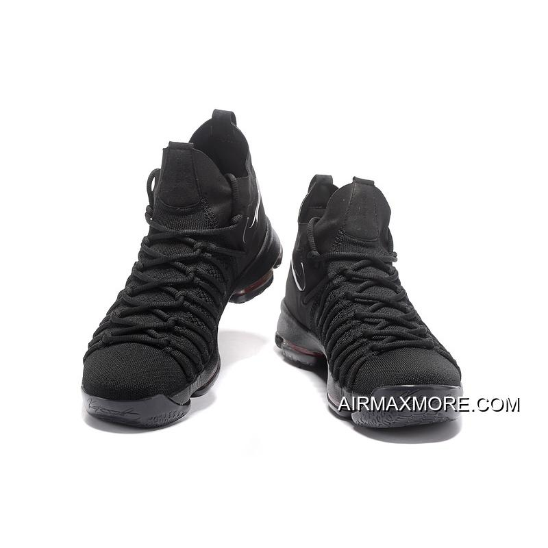 d72669358ac9 ... purchase new release nike zoom kd 9 elite all black basketball shoes  3caa0 b163f