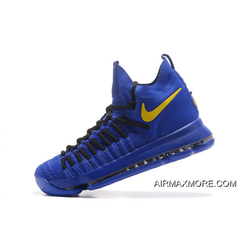 314abad7af6323 ... where to buy buy now nike zoom kd 9 elite royal blue yellow basketball  shoes 03a70