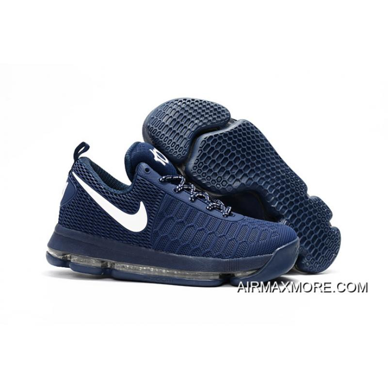 best service 51f89 ce339 Buy Now Nike KD 9 Dark Blue/White Basketball Shoes
