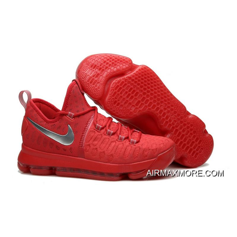 official photos f7907 dd314 ... czech new release nike kd 9 sport red silver basketball shoes fa6c0  399bf