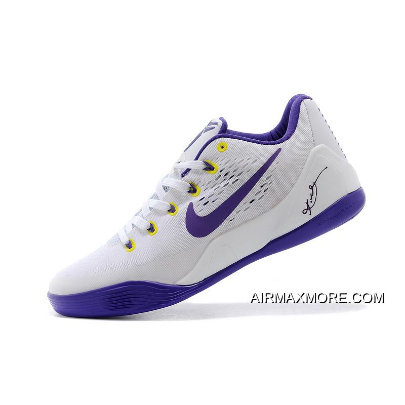 on sale c3d4e b667a ... coupon code discount nike kobe 9 em home white court purple 6385f 4765e