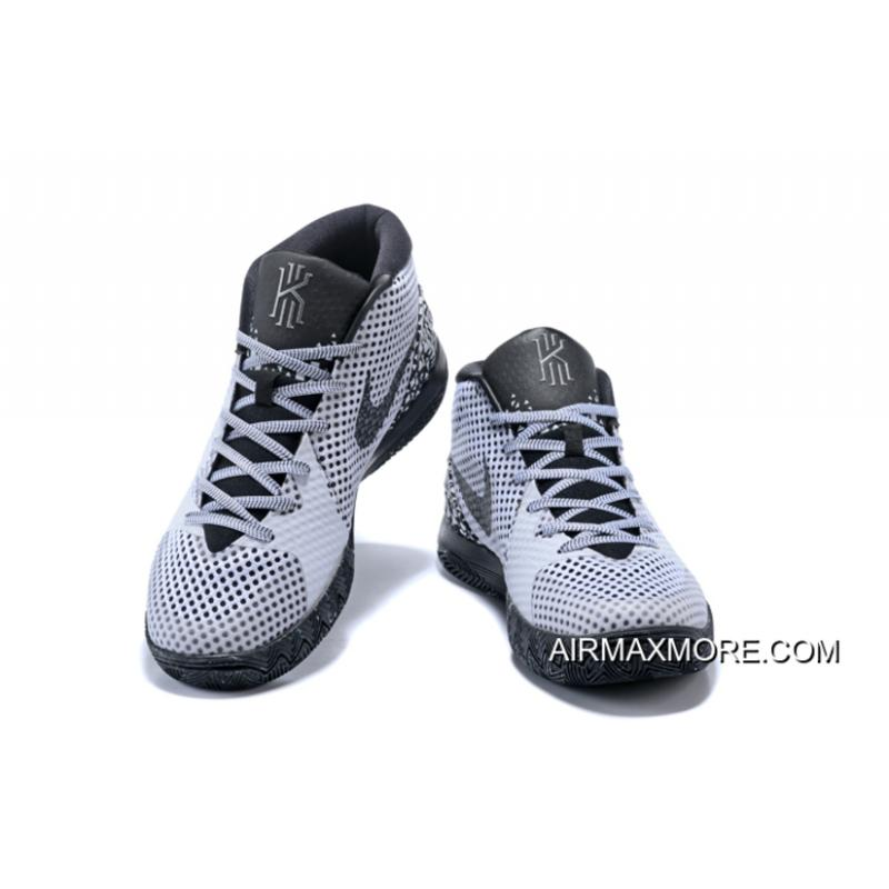 new concept ead60 2bbed ... get low price outlet nike kyrie 1 bhm white black dark grey 718820 100  82b62 08eb0