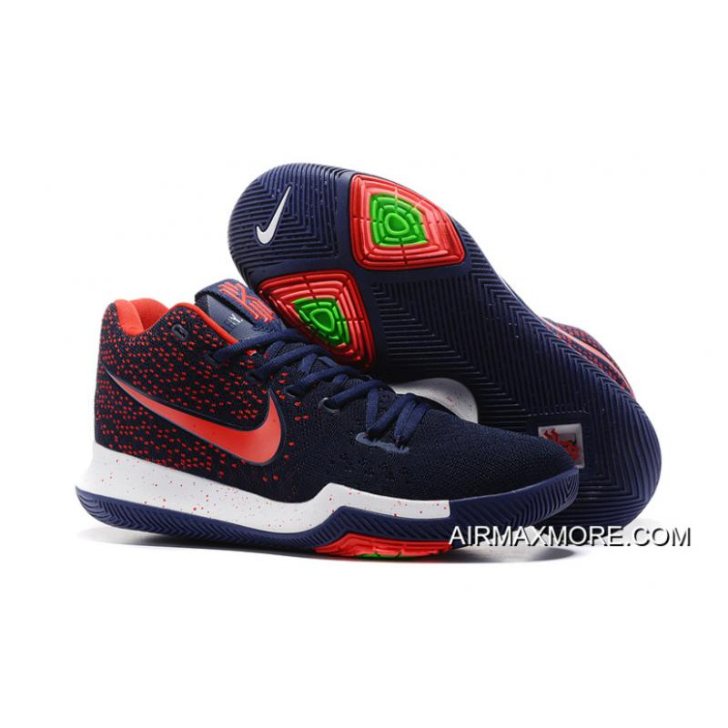 buy online fd422 256b6 Nike Kyrie 3 Dark Blue Red Best .