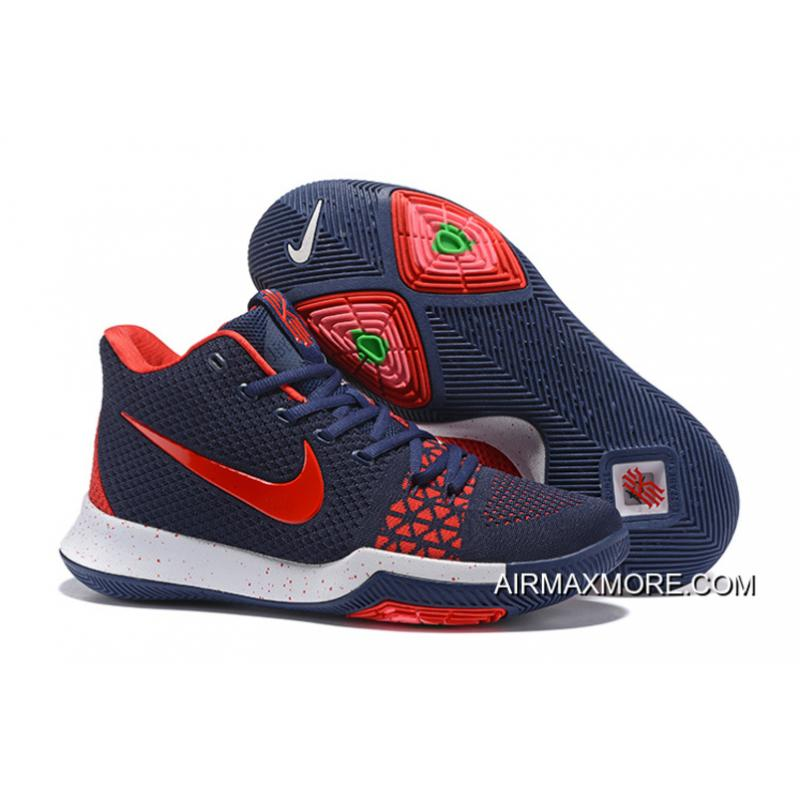 free shipping 4f7d5 22027 For Sale Nike Kyrie 3 Navy Blue/Red