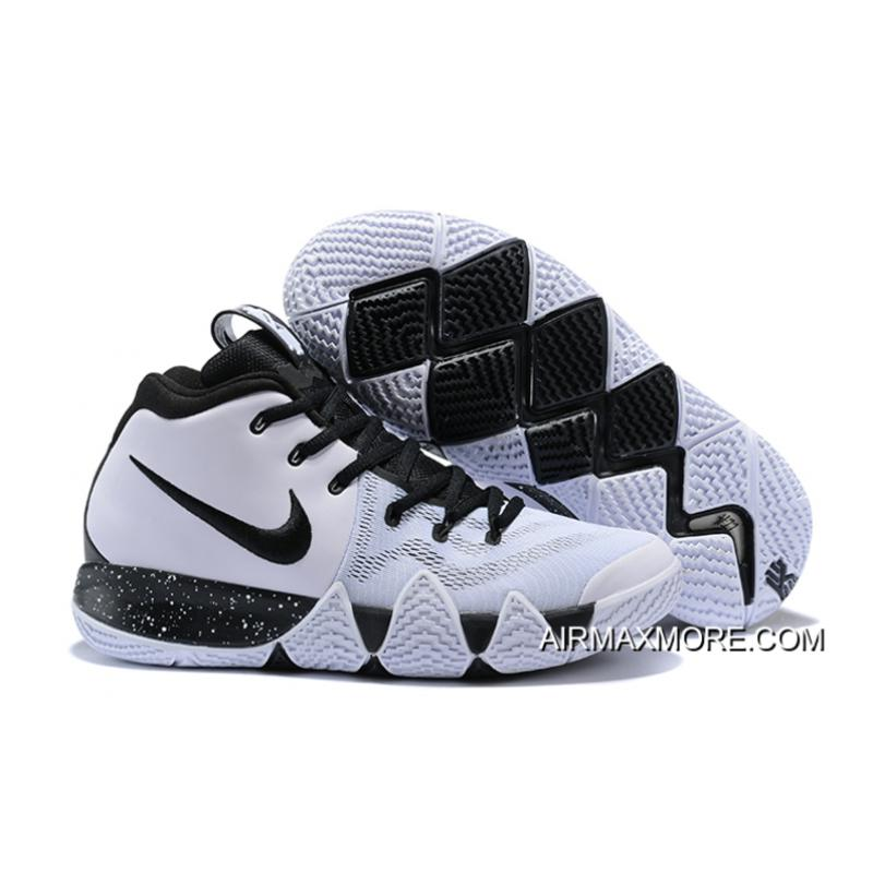check out f6621 6c965 Free Shipping Nike Kyrie 4 White Black ...