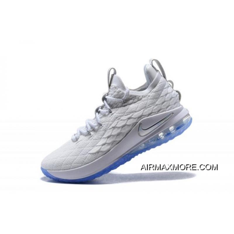 "buy popular 73877 809fe Nike LeBron 15 Low ""White Ice"" Men's Basketball Shoes For Sale"