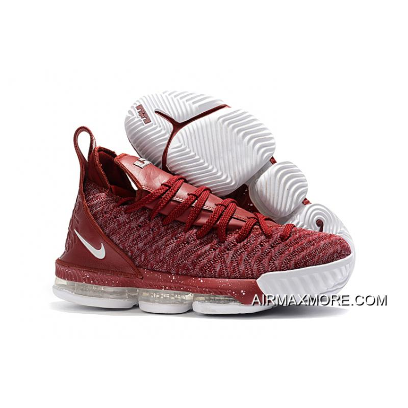 """new product 5e81d 1661a Nike LeBron 16 """"Wine"""" Red White New Release"""