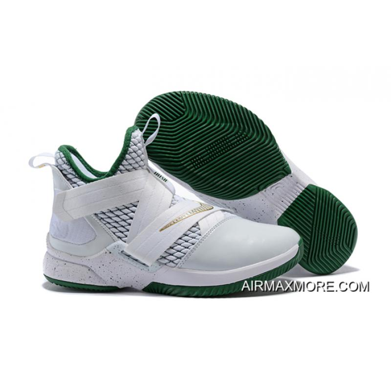 "bef8eaa4026 Nike LeBron Soldier 12 ""SVSM Home"" White/Multi-Color Men's Basketball Shoes  Authentic"