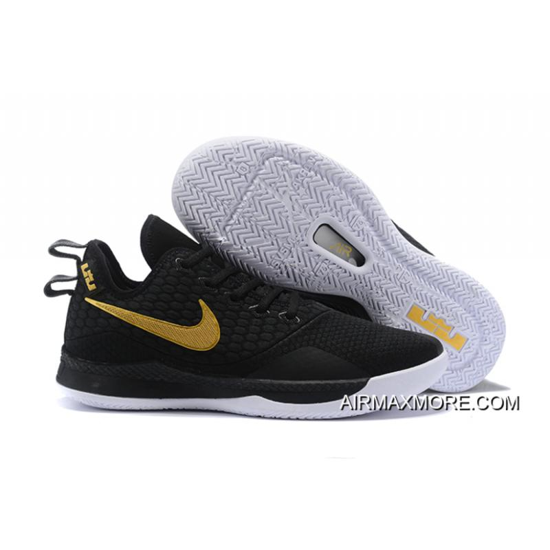"d9d3bc0824a0 Tax Free Nike LeBron Witness 3 ""Black Gold"" ..."