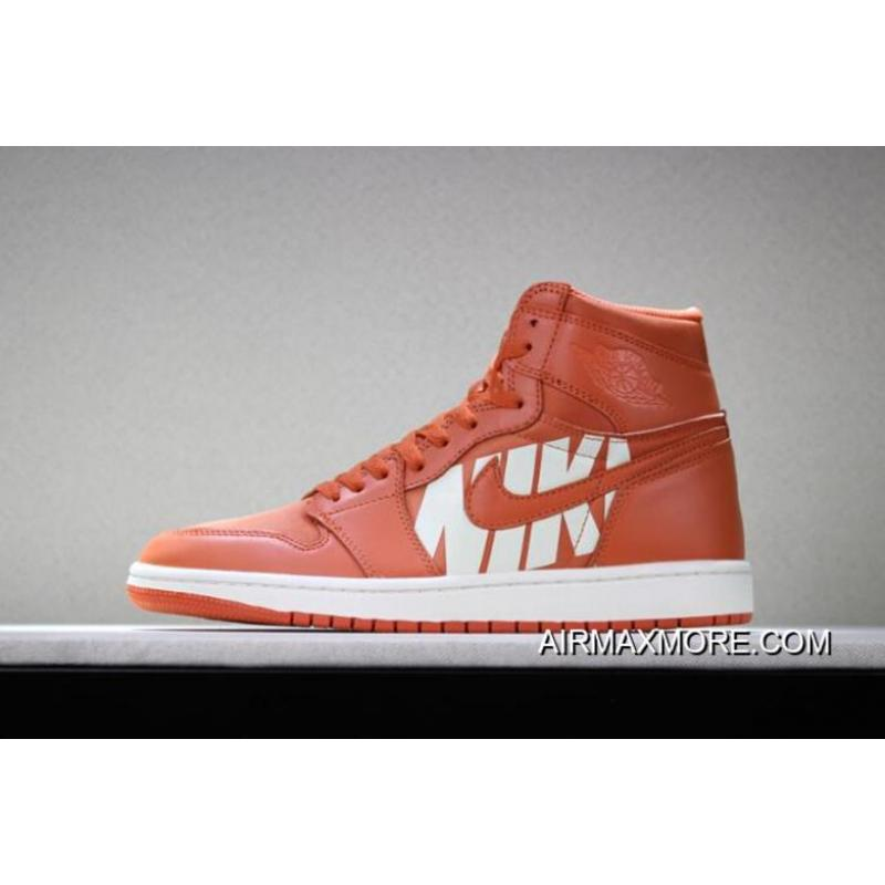 huge discount dd6ec 65eaa Women/Men Big Discount Off-White X Air Jordan 1 Nike Swoosh Orange/White