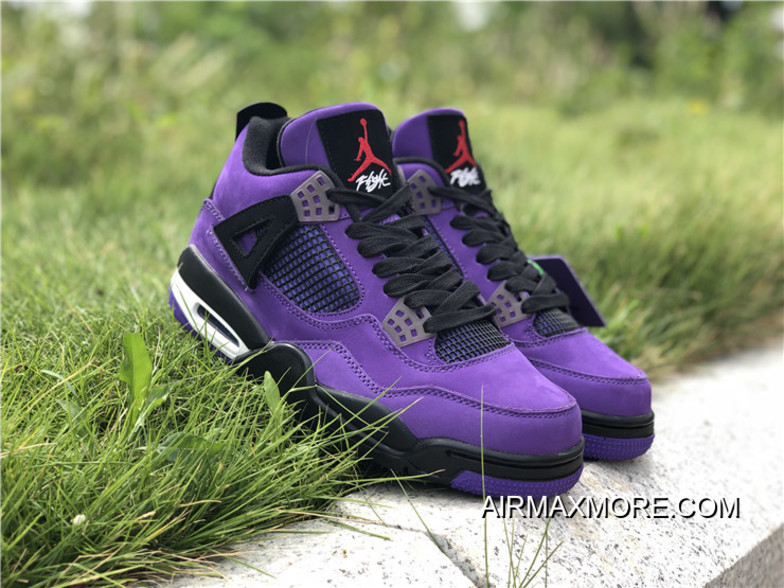 buy popular e0a35 1fa8b Big Deals Travis Scott X Air Jordan 4 Purple/Black-White