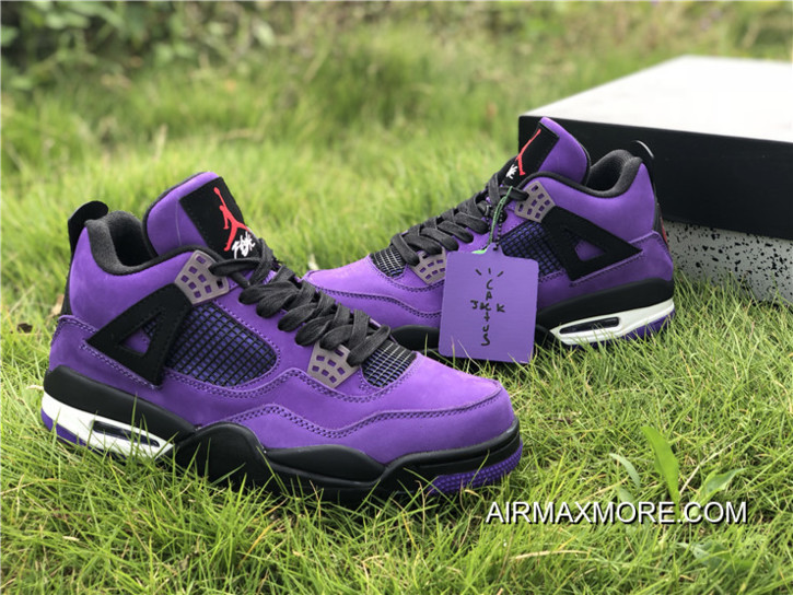 buy popular 5ebbd efb55 Big Deals Travis Scott X Air Jordan 4 Purple/Black-White
