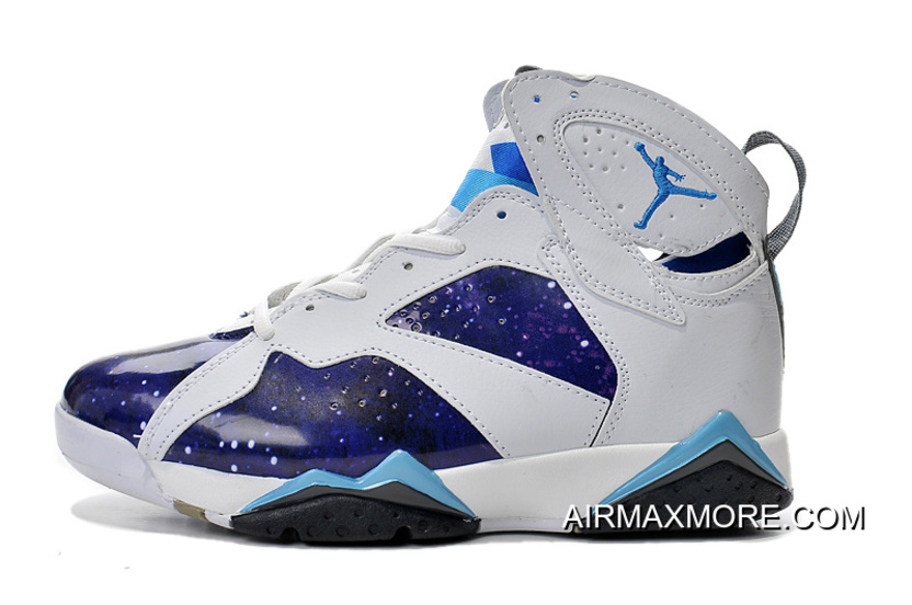 check out a15d2 75608 Free Shipping New Air Jordan 7 White Galaxy Custom