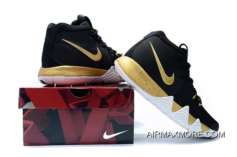 huge selection of 70387 ee230 For Sale Nike Kyrie 4 Black Gold White