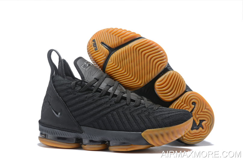 size 40 29978 2dd8e For Sale Men s Nike LeBron 16 Black Gum Basketball Shoes