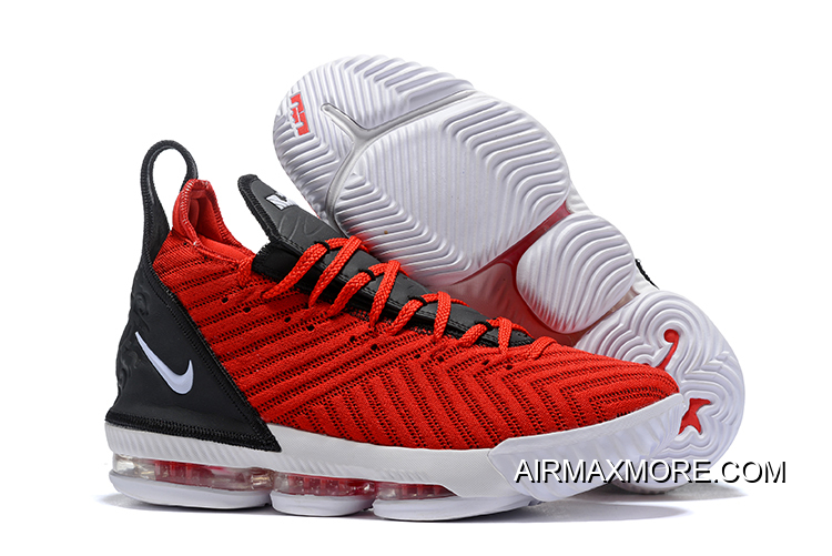 32927c715b98 Top Deals Men s Nike LeBron 16 Black University Red-White